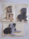 Hand Made Jumbo Wooden Puppy Magnet With Border Collie, Labrador or Alsatian